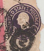 3 Cent Washington violett - Ganzsache USA