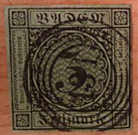 3 Kreuzer Baden 1853