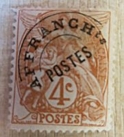 4 Centimes  Afranch ts postes 1900