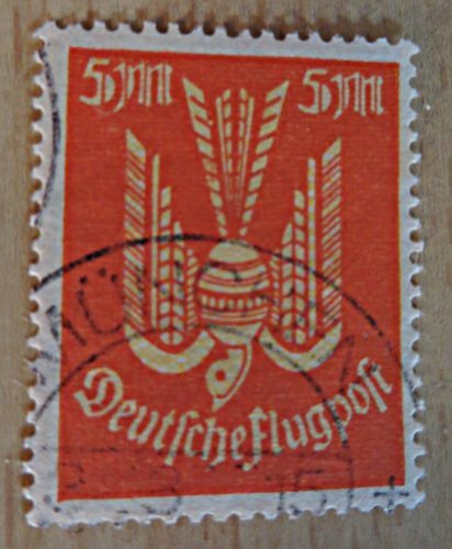 5 Mark 1922 Flugpost Holztaube