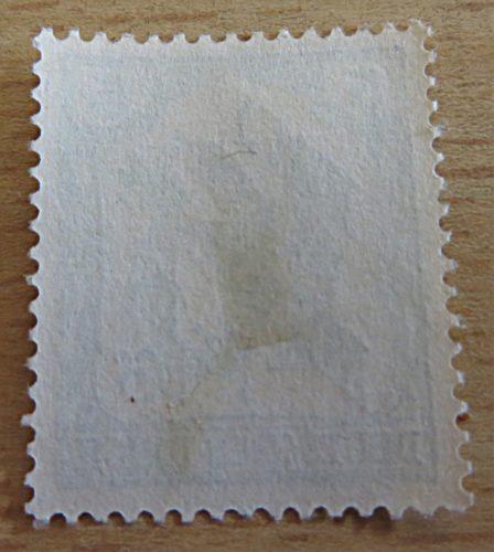 5 Pfennig Nr. 16 frei durch Ablösung Rückseite