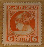 6 Heller Merkur 1916 Feldpost  Zeitungsmarke