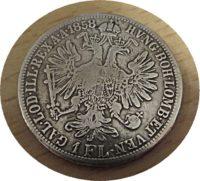 1 Gulden 1858 Kaiser Franz I. - Silbermünze Österreich