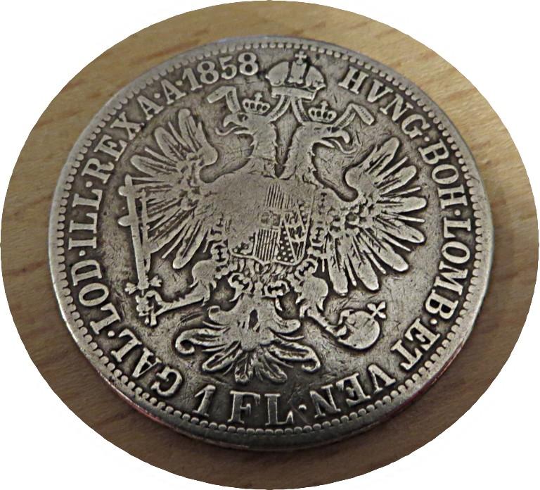 1 Gulden 1858 Kaiser Franz I.