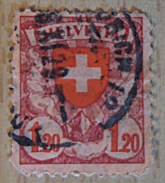 1,20 Franken  1933 Freimarke Schweiz