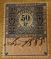50 Kreuzer 1888 Stempel Marke