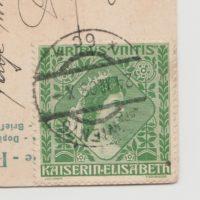 Wohltaetigkeitsmarke Viribus unitis Kaiserin Elisabeth - Ganzstück