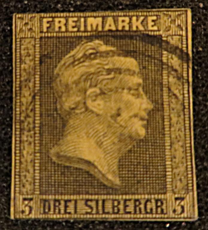 3 Silbergroschen 1850 Preussen Freimarke König Wilhelm IV