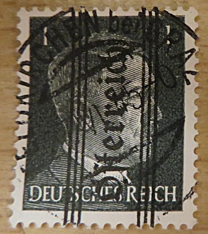 Hitler stamps 1945 Grazer Ausgabe Österreich Aufdruck