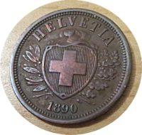 2 Rappen 1890 Schweiz
