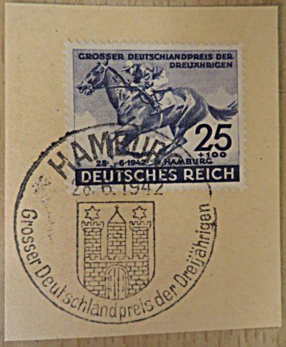 25+100 Pfennig grosser Deutschlandpreis der Dreijährigen 1942