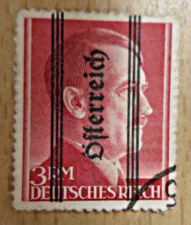 Grazer Markwert 1 RM - Hitler stamps 1945 - gestempelt