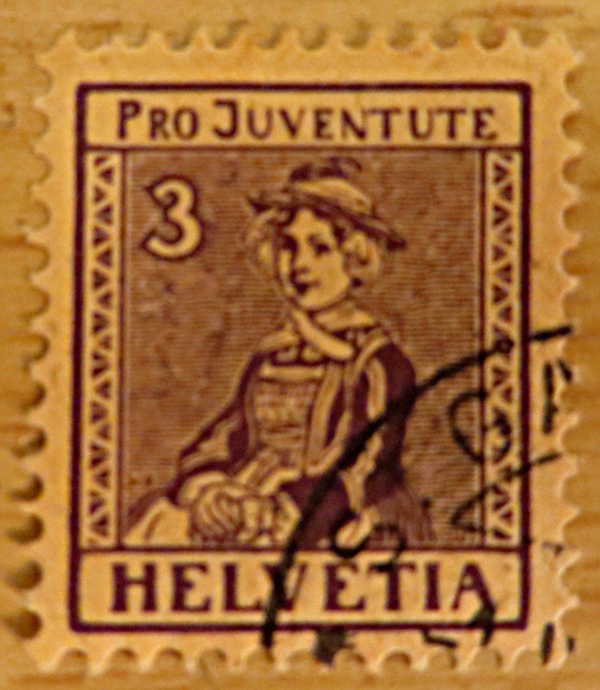 Pro Juventute 1917 Trachten Schweiz Briefmarken