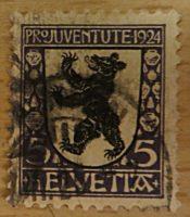 Pro Juventute 1924 Wappen Schweiz Briefmarken