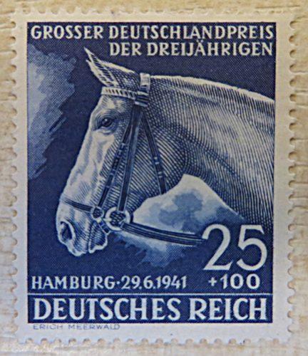 25+100 Pfennig grosser Deutschlandpreis der Dreijährigen 1941
