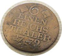 ein sechstel Reichsthaler 1772  Preußen
