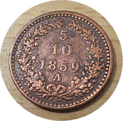 5/10 Kreuzer A 1859