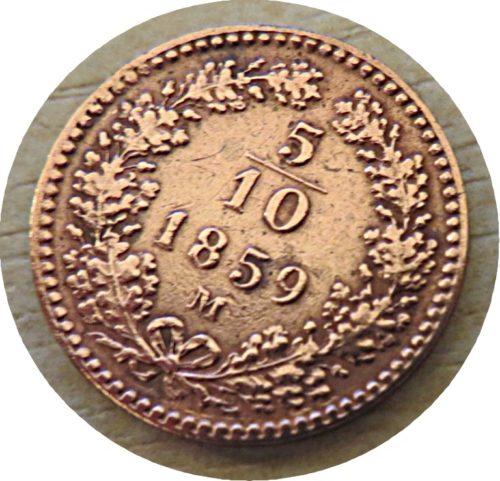 5/10 Kreuzer M 1859 Kaiser Franz Joseph I.