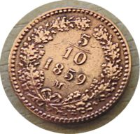 5/10 Kreuzer M 1859 Habsburg Reich Österreich