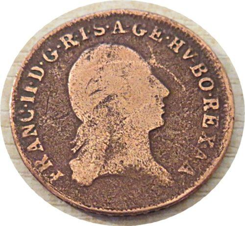 1 Kreuzer 1800 0hne MZZ (ohne Münzzeichenstätte)