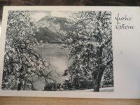 1S+50 Groschen Lawinenopfer 1954 Ganzstück Ostern Postkarte 1954