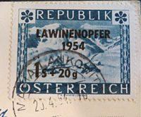 1S+50 Groschen Lawinenopfer 1954 Ganzstück