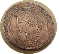 10 Centimes 1880 Frankreich