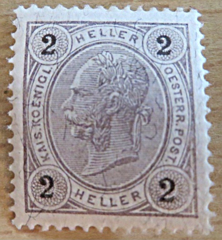 2 Heller 1899 Briefmarke Kaiserkopf links  ungestempelt