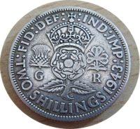 2 shillings 1943 florin George VI Großbritannien - Silbermünze Großbritannien