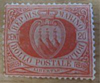 20 Centesimi 1877 Briefmarken San Marino