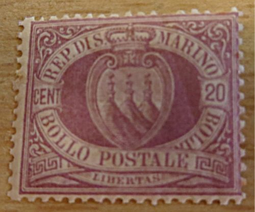 20 Centesimi lila San Marino 1894