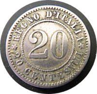 20 centesimi 1894 Italien