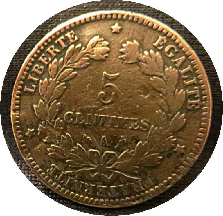 5 Centimes A 1897 Frankreich