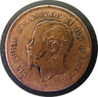 5 centesimi M 1861 Italien Emanuele II.