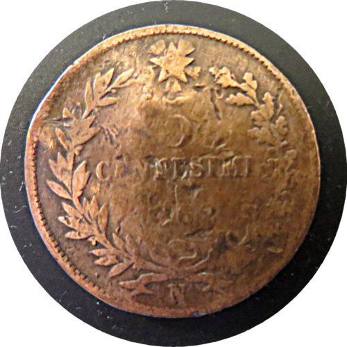 5 Centesimi N 1861 Italien Emanuele II.