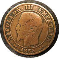 5 centimes D 1855 Napoleon III Frankreich