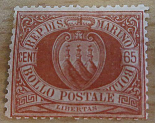 65 Centesimi San Marino 1892