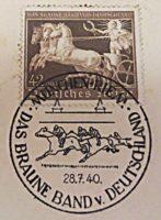 braunes Band 1940 Riem Poststempel vom 28.7.1940