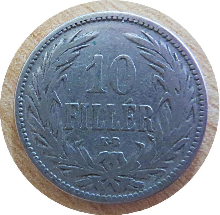 10 Filler 1892 Ungarn Münzen Kaiserzeit