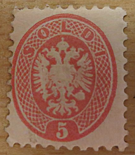 5 Soldi Doppeladler Nachdruck 1884