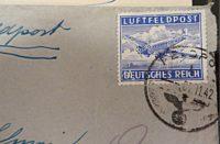 Luftfeldpost 1942 Militär Feldpostmarke Ganzstück