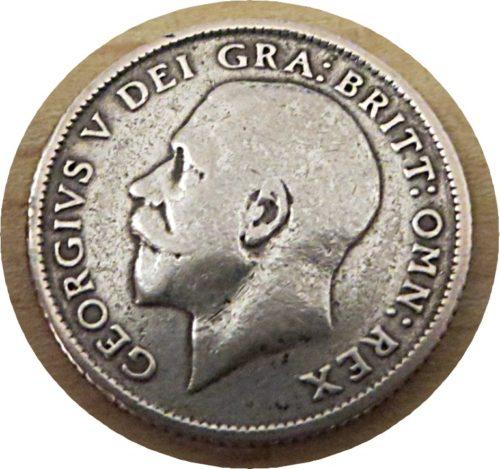 sixpence 1924 King Georg V.
