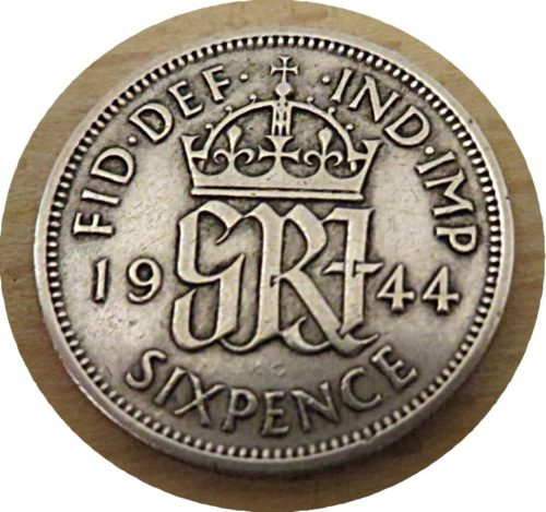 sixpence 1944 King Georg VI.