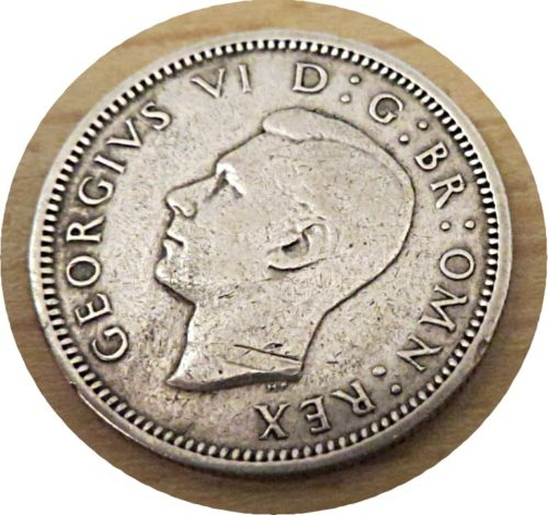 sixpence 1944 King Georg VI.