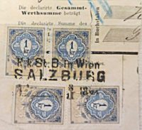 1 Kreuzer 1883 Stempelmarke Österreich Kaiserzeit