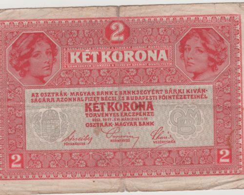2 Korona 1917 - 1 Korona 1916 -Corona aus der k.u.k. Monarchie Österreich-Ungarn