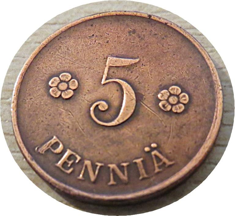 5 penniä 1919 Finnland