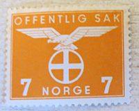 Dienstmarken Norwegen 1945
