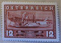 DDSG 9.6. 1937 100 Jahre Erstfahrt Maria Anna