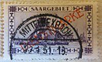 1 Franc  1931 Saargebiet Dienstmarken Saargebiet